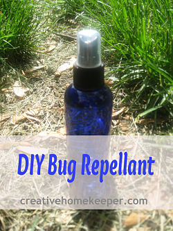 DIY Bug Repellent- safe, natural and effective! Just a few ingredients that you probably already have in your home making this not only green but also frugal too!!!