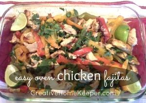 Easy Oven Chicken Fajitas