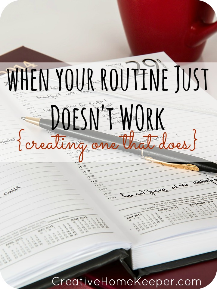 Creating a Routine That Works For You- Sometimes your routine needs to change to reflect the season you are currently in. Here are some tips to help you think through your routine, plus a free printable to help you get organized!