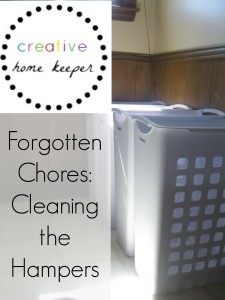 Forgotten Chores Series {Cleaning Your Hampers}