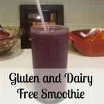 Gluten and Dairy Free Smoothie