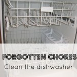 Forgotten Chores {Cleaning the Dishwasher}