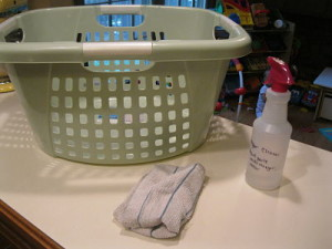 Forgotten Chores {Clean Your Laundry Baskets}