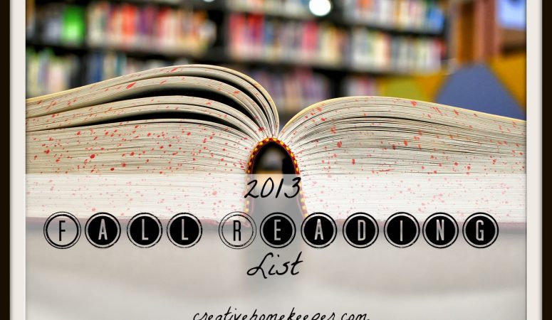 2013 Fall Reading List