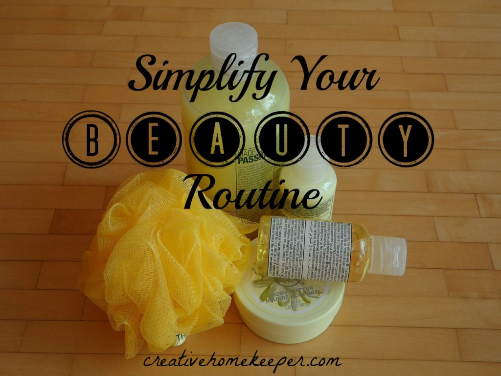Simplify your beauty routine to save you both time and money. One busy mom shares her quick tips to maximize your time and still look and feel great!