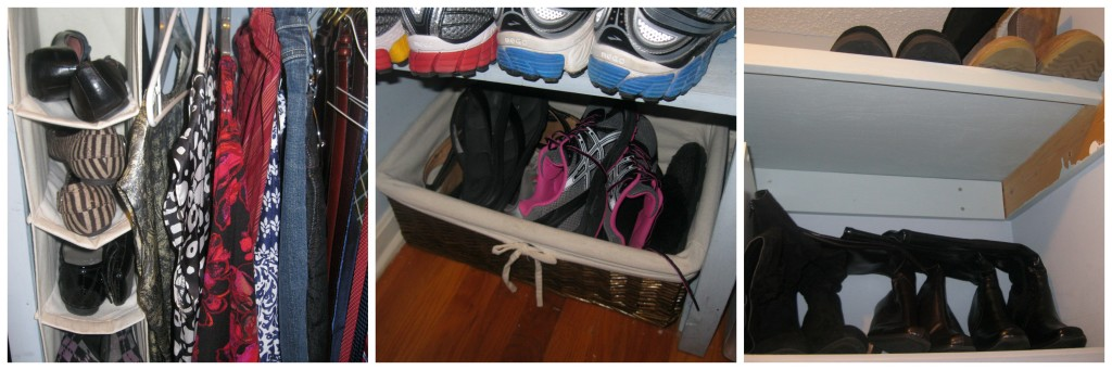 It doesn't have to be pretty to be organized. Want some practical, frugal and real tips to organize your closet? Use what you already have to create an organizational system that works for you.