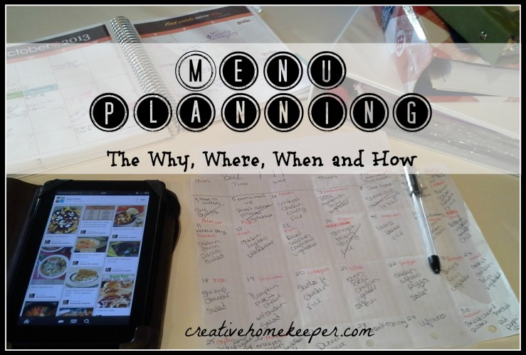 The Why, How, When and Where of My Meal Planning