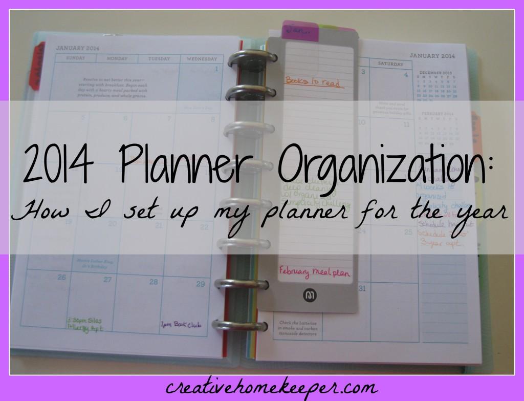 2014 planner organization