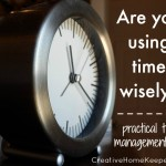 Are You Using Time Wisely?