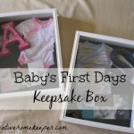 Baby's First Days Keepsake Box {Pinned It… Made It}