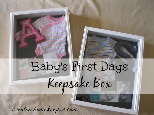 Baby S First Days Keepsake Box Pinned It Made It
