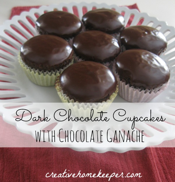These dark chocolate cupcakes with creamy, homemade ganache topping are truly decedent and delicious. Easy to whip up, even with an egg substitution for those with allergies!