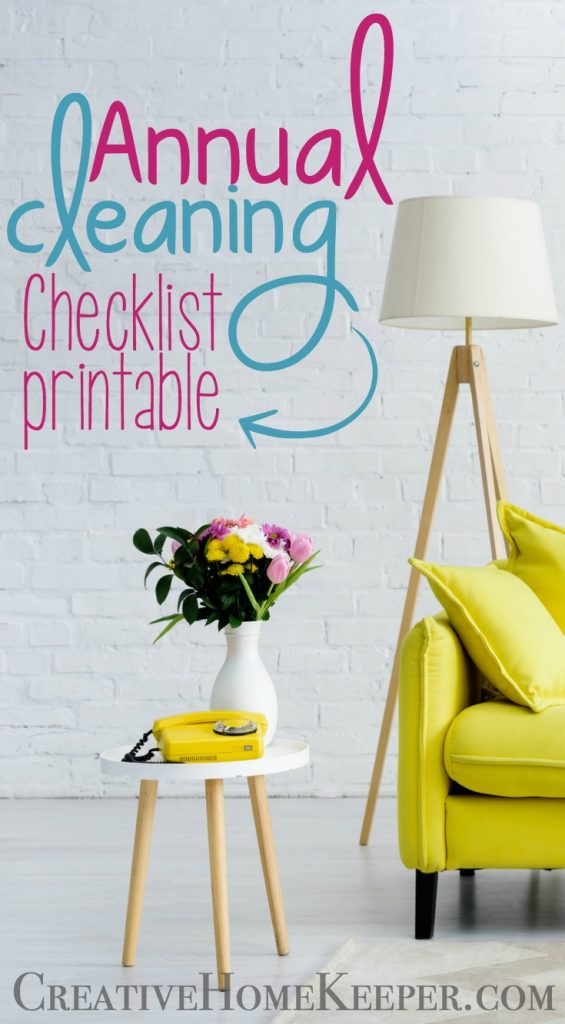 Annual Cleaning Checklist