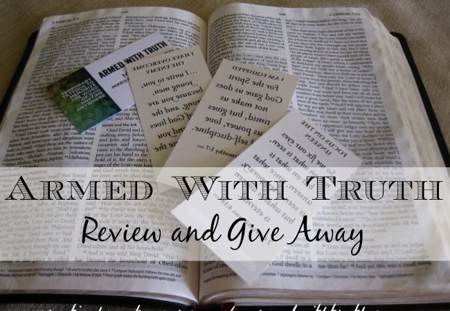 Armed With Truth Scripture Memory {Sponsor Review and Give Away!}