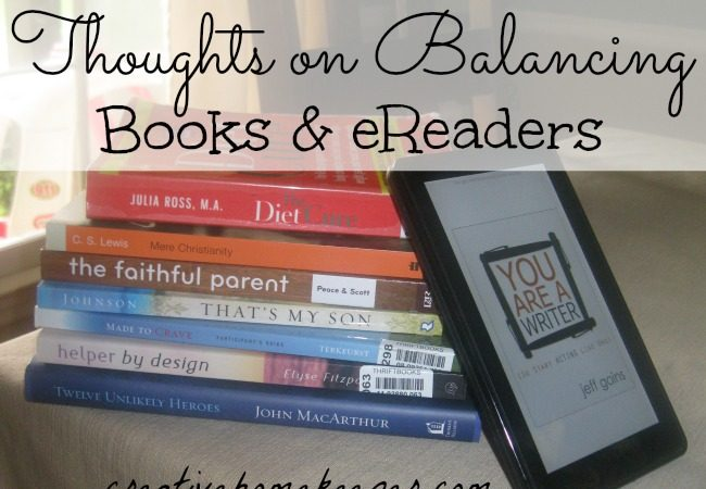 Book Notes: Thoughts on Balancing Books and eReaders (link-up)