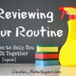 Reviewing Your Routine: a New Series to Help You Get It Together {again}