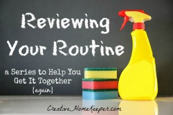 reviewing your routine button