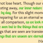 2 Corinthians 4:16-18 {Bible to Brain to Heart Memory Challenge}