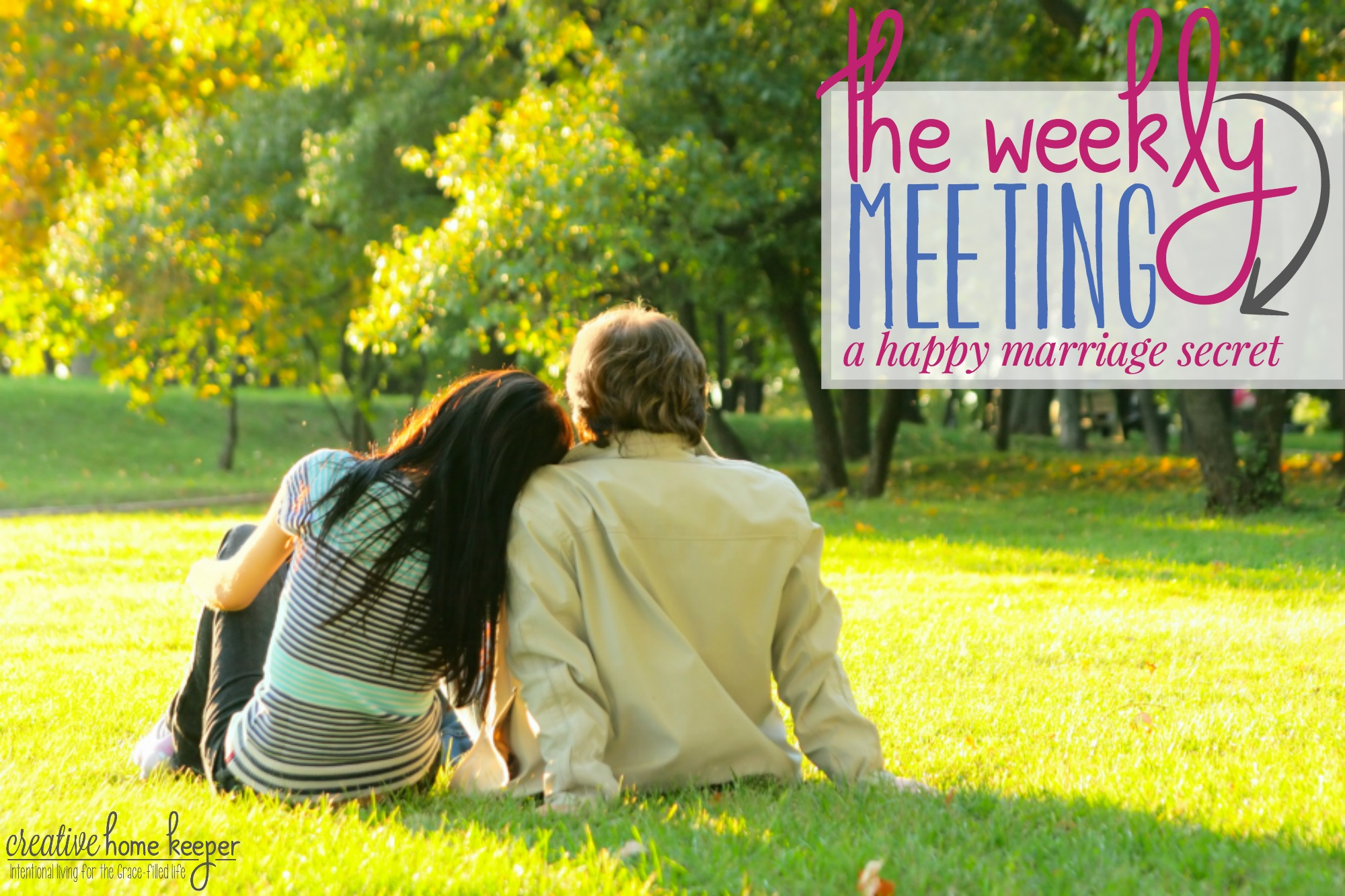 The Weekly Meeting with Your Spouse {a happy marriage secret