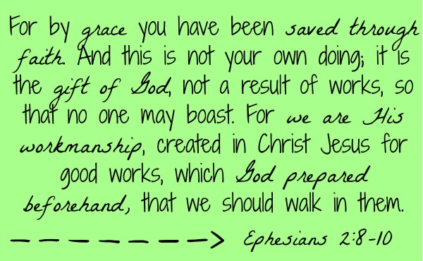 Ephesians 2:8-10 {Bible to Brain to Heart Scripture Memory Challenge}