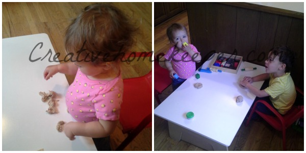 edible play dough playtime 2