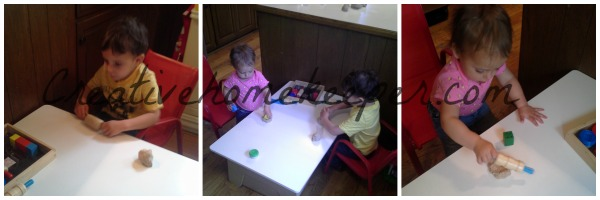 edible play dough playtime
