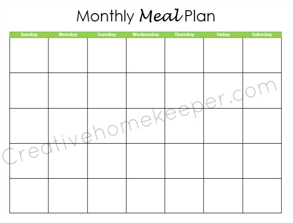 Monthly dinner menu calendar template search results for Monthly dinner menu template