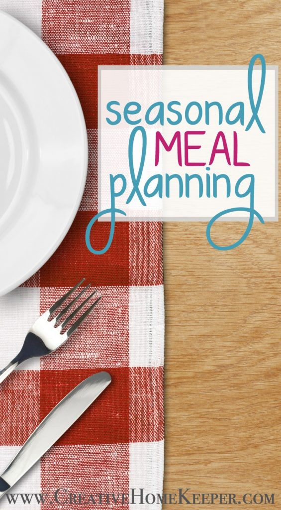 Meal Planning Through the Seasons
