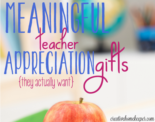 As the school year winds down, don't forget to show your child's teacher appreciation for all the hard work they have put forth. Consider one of these 5 meaningful teacher appreciation gifts they actually want!