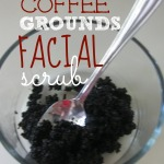 DIY Coffee Grounds Facial Scrub {Natural Beauty}