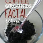 DIY Coffee Grounds Facial Scrub {Natural Beauty}