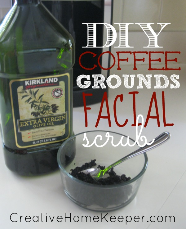 DIY Coffee Grounds Facial Scrub 3