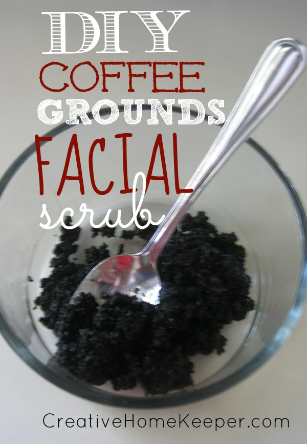 DIY Coffee Grounds Facial Scrub
