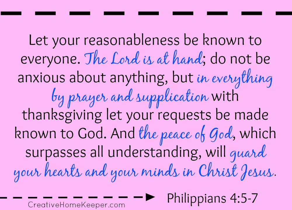 Philippians 4:5-7 {Bible to Brain to Heart Scripture Memory Challenge}
