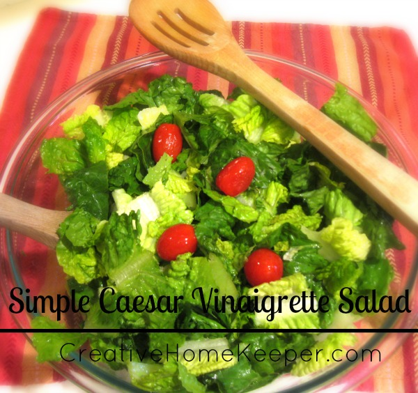 Simple Caesar Vinaigrette Salad