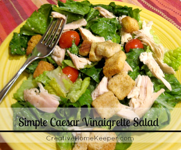 Simple Caesar Vinaigrette Salad 2