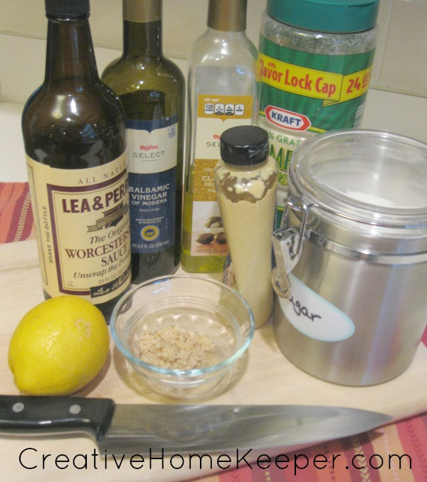 Simple Caesar Vinaigrette Salad ingredients