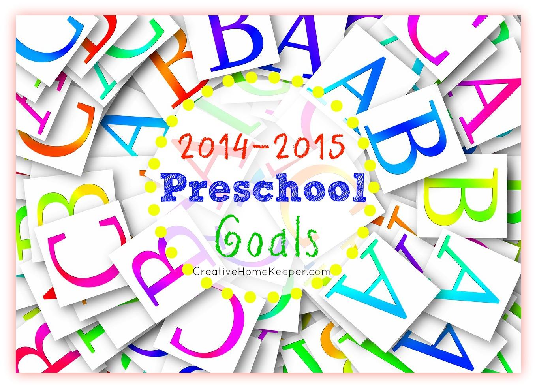 Our 2014-2015 Preschool Goals