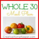 Whole 30 Meal Plan {Week One}