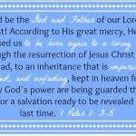 1 Peter 1: 3-5 {Bible to Brain to Heart Scripture Memory Challenge}