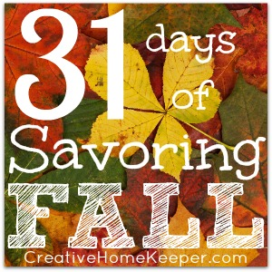31 Days of Savoring Fall: Savoring the Season as a Family is possible with a little intentional planning and thought. Download this simple, FREE Fall bucket list to help prioritize your fall activities making sure that you are able to slow down and savor fall. | CreativeHomeKeeper.com