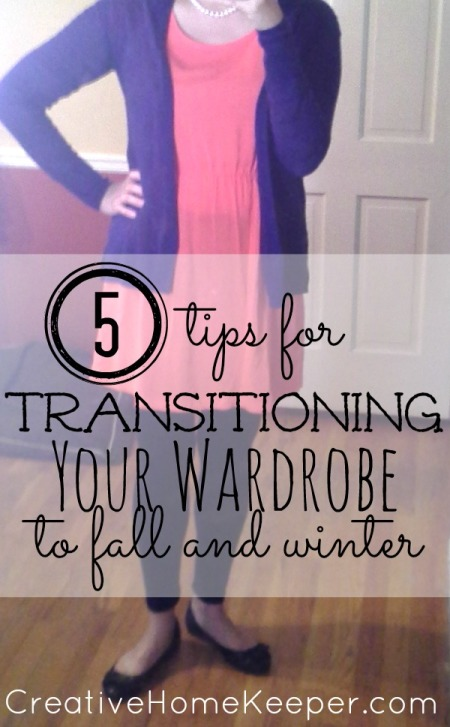 Ready to dress for the cooler days of fall and winter? Check out out these tips for transitioning your wardrobe to fall and winter in a few easy steps | CreativeHomeKeeper.com