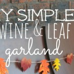 DIY Simple Twine and Leaf Garland