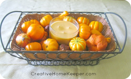 A fall home tour and tips on loving the home you have right now, not the home you would love after a long list of redecorating projects | CreativeHomeKeeper.com