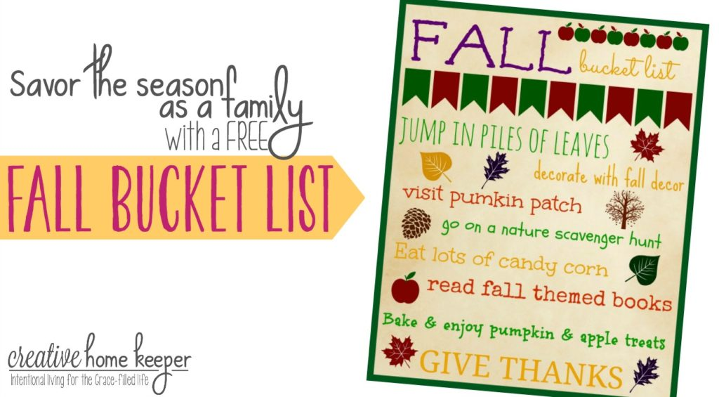 Savoring the season as a Family is possible with a little intentional planning and thought. Download this simple, FREE Fall bucket list to help prioritize your fall activities making sure that you are able to slow down and savor fall.