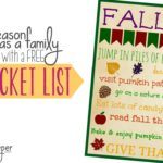 Savoring the Season as a Family {plus a FREE Fall Bucket List Printable}