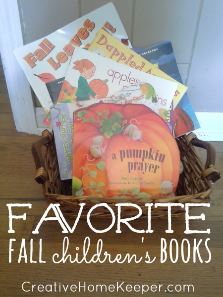 Favorite Fall Children's Books: Savor the season by enjoying these favorite fall books that your whole family will love. Enjoy time on the couch cuddled up reading about all the delights of fall. | CreativeHomeKeeper.com
