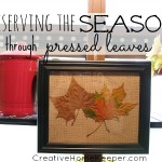 Preserving the Season Through Pressed Leaves