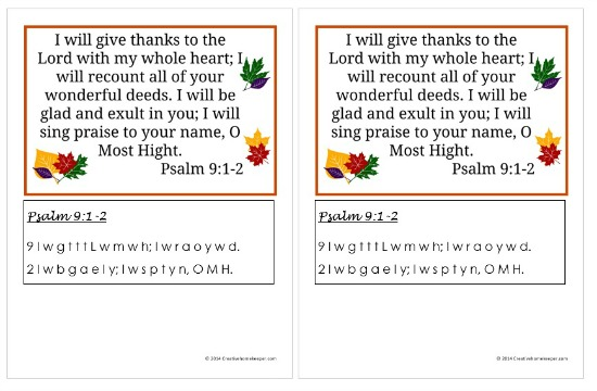 Psalm 9 1-2 screenshot