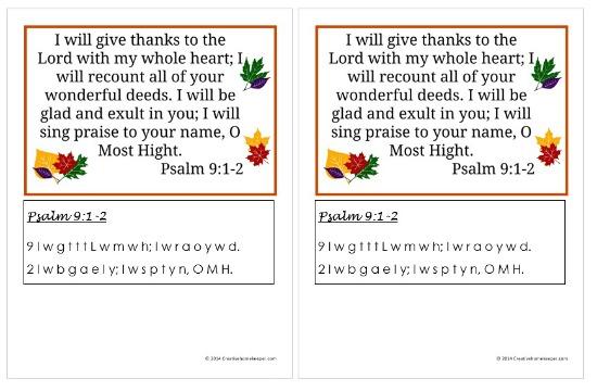 Psalm 9 1-2 screenshot